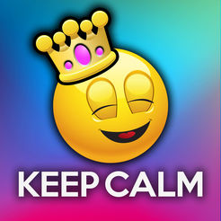 emoji keep calm funny poster creator tiny mobile ios games apps